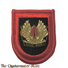 Beret flash Ar. S.O.C. special operations command  with crest