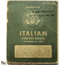 TM 30-603 Italian Phrase Book 1943