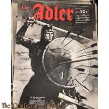 Zeitschrift Der Adler heft 5 , 29 febr 1944  (Magazine Der Adler No 5, 29 febr 1944)
