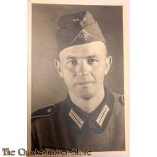 Studio portret soldier with wedge cap