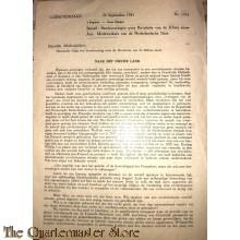 Circulaire no 1014  20 september 1941 voor de deelnemers van de Ned Unie s' Gravenhage