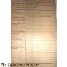 Aanvraagformulier voor een Vestigings vergunning 1945