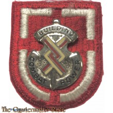 Beret flash 20th Engineers Brigade with crest