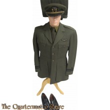 Officers WW2 USN aviation greens incl shoes and trenchcoat
