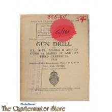 Manual Gun Drill for B.L. 60 PR. Marks II and II* Guns on Marks  IV and IVr  Field Carriages 1934