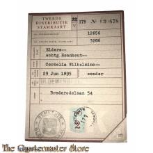2e distributie stamkaart V Bloemendaal 179 no 030678
