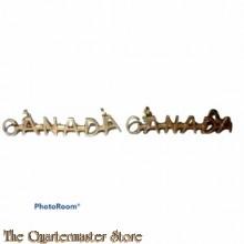Shoulder titles CANADA (brass)