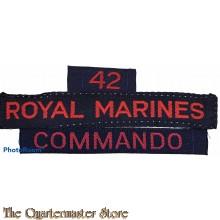 """Cash title"" 42nd Royal marine Commando"