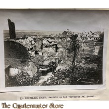 Press photo , WW1 Western front,  remains of Bellicourt