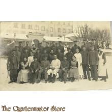 (Feld) Postkarte WK 1 Hospital mit Soldaten und Schwestern 12 dec 1916