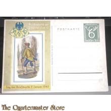 Postkarte Reichsbund der Philatelisten , Tag der Briefmarke 7 januar 1940