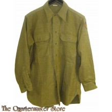 Shirt, Flannel, O.D. Coat Style 8th US AAF (Overhemd manschappen 8e AAF WW2)