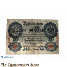 Reichsbanknote 20 (Zwanzig) Mark 1914