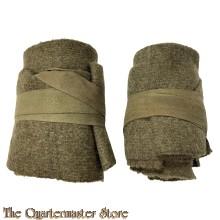 British Wool putties enlisted mens/NCO WW2