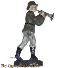 Wehrmacht trompet muzikant ELASTOLINl (German musician trumpet WW2)