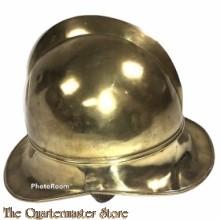 Koperen brandweer helm Zwitserland jaren 20-30 (Swiss Brass firefighter helmet 1920s)