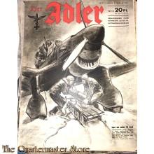 Zeitschrift Der Adler heft 3 ,3 febr 1942  (Magazine Der Adler no 3 ,3 febr 1942)