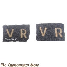 "Shoulder flashes Set of 2 RAF ""V.R."" (Set van 2 stoffen RAF ""V.R."" straatnamen)"