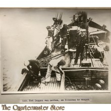 Press photo , WW1 Western front,  nets for catching U boats