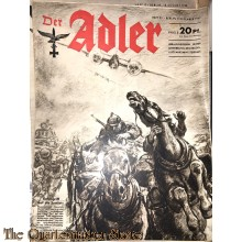 Zeitschrift Der Adler heft 25 ,9 dec  1941  (Magazine Der Adler No 25 9  dec 1941)