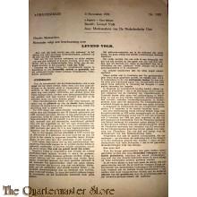 Circulaire no 1085  3 november 1941 voor de deelnemers van de Ned Unie s' Gravenhage
