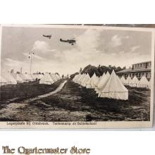 Prent briefkaart 1929 Legerplaats bij Oldebroek, Tentenkamp en Schietschool