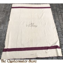 US Army White Wool Blanket 1944