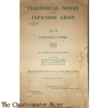 Periodical notes on the Japanese Army no 5 1943 Tanks