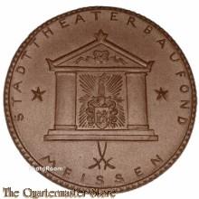 Porzelanmedaille StadttheaterBaufond  Meissen 1922 (Ceramic table medal Meissen 1922)