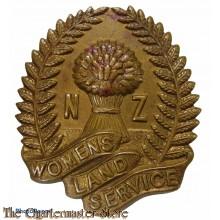 Cap badge Women's Land Service New Zealand WW2