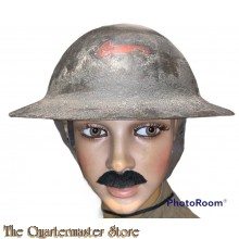 WWI Canadian Helmet M1915 with insignia of the  Machine gun Battery