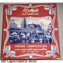 """Legpuzzel """"Kolkje oud Rotterdam"""" in rode doos"""