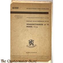 (Voorlopig) Voorschrift no 6100 Naamlijst Zendontvanger nr 19 model 2 c.a.