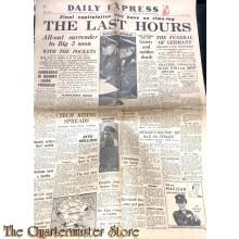 Newspaper, Daily Express no 14.016 , may 7 , 1945