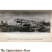 Press photo , WW1 Western front,  remains of the church in Etrelliers