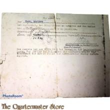 Ausweiss/Passierschein  Fliegerhorst 15-09-1944