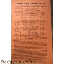 Bonaanwijzing no 8  Distributie-centrale XIV (Amersfoort) 2 t/m 4 juni 1945
