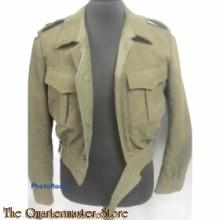 Battle Dress met broek kapitein AAT (Aan en Afvoer troepen)
