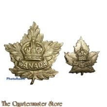 General List Maple Leaf Cap & collar badge Canada