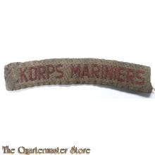 Straatnaam Korps Mariniers (kaki)