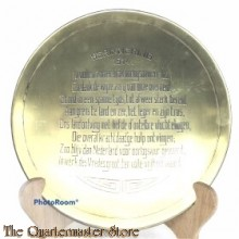 Metalen herinnerings bord 1914
