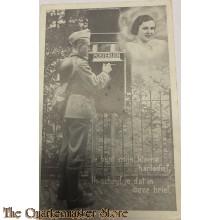 Prent briefkaart 1939 Je bent mijn kleine hartedief