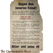 Flugblaff / Leaflet G.22, Erläuterungen zur Hitler-Rede / Gegen den inneren Feind! (Elucidation to the Hitler Speech / Against the Inner Enemy)