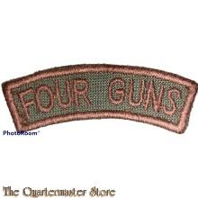 Shoulder title Four Guns