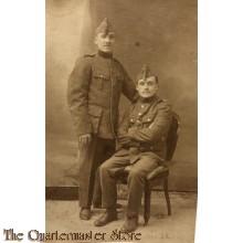 Studio portret 2 soldiers belgium 1921