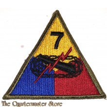 Mouwembleem 7th Armored Divison (Sleevebadge 7e Armored Division)