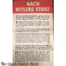 Flugblatt / Leaflet G.29, NACH HITLERS STURZ (After Hitler's Fall)