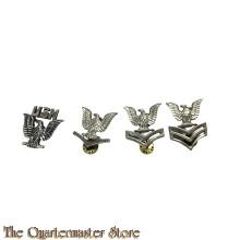 4 x US Navy metal rank insignia 1960s