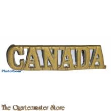 Shoulder title CANADA (brass)