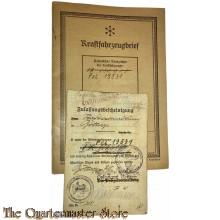 Zulassungsbescheinigung und Kraftfahrzeugbrief Daimler Benz Polizei 19531 Bottrop